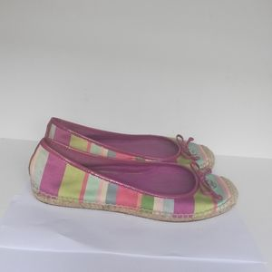 COACH Royce Hamptons Weekend Multi Striped Shoes